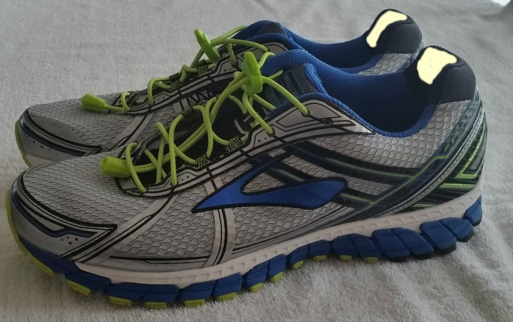 Brooks Adrenaline GTS15 with location for petroleum jelly