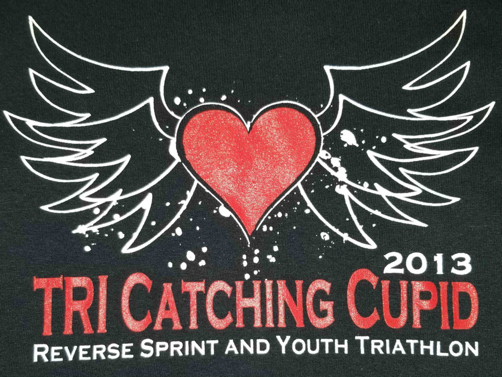 logo from the t-shirt of the 2013 Tri Catching Cupid Reverse Sprint and Youth Triathlon