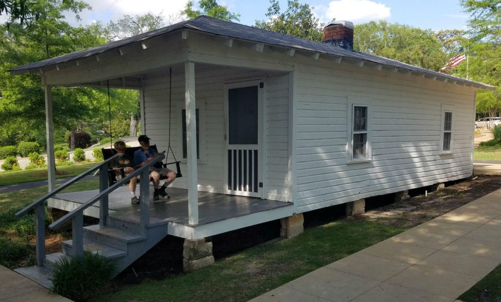 The run took us past Elvis Presley's birthplace.