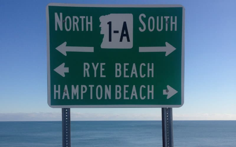 sign for Rye Beach location of the New Hampshire triathlon