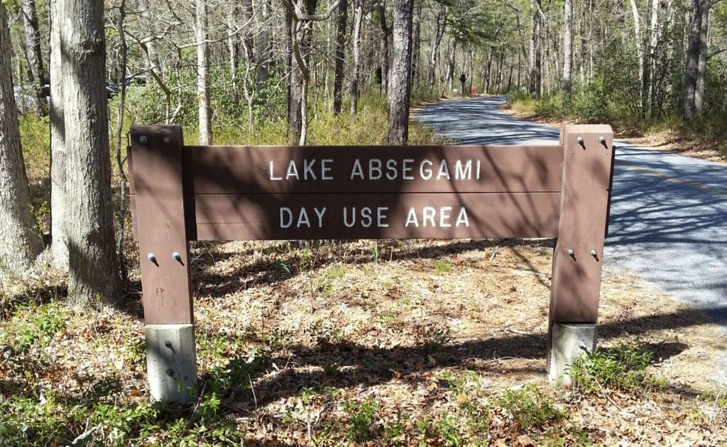 Lake Absegami Day Use Area of the Bass River Forest, venue for the New Jersey triathlon