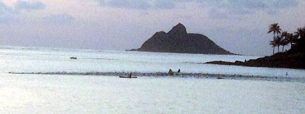 Swim start at BOCA Hawaii Lanikai Sprint Triathlon