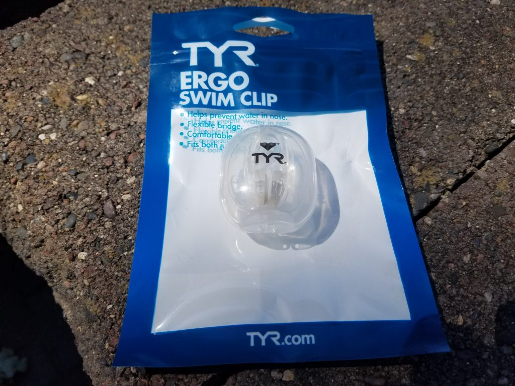 Tyr Ergo nose clip for triathlon swim training