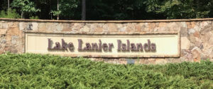 sign entering Lake Lanier Islands resort