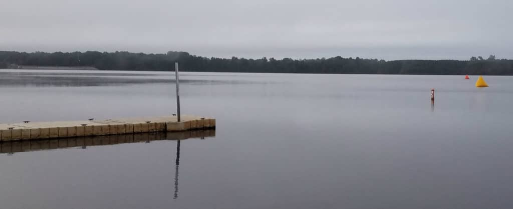 Buckhorn-Reservoir-with-buoys-for-the-Battle-at-Buckhorn-North-Carolina-triathlon