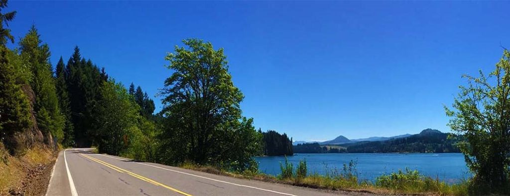 Bike course for Best in the West triathlon on North River Road at Foster Lake Oregon