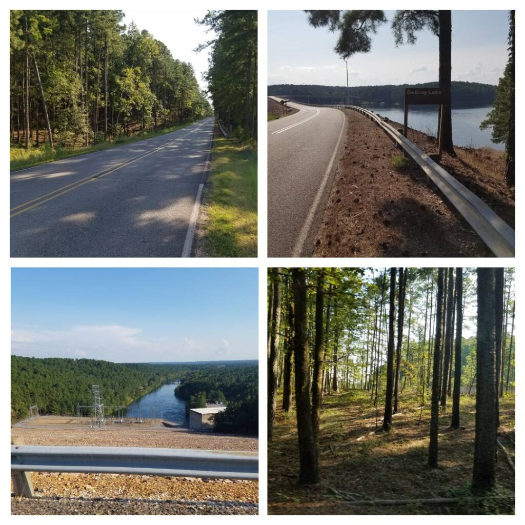 pictures from along the bike course of the DeGray Lake Arkansas triathlon