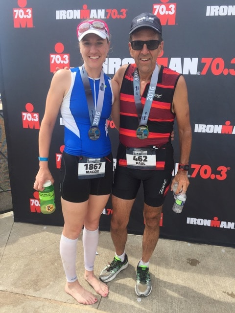 Paul Zellner and daughter Maggie in runner and triathlete