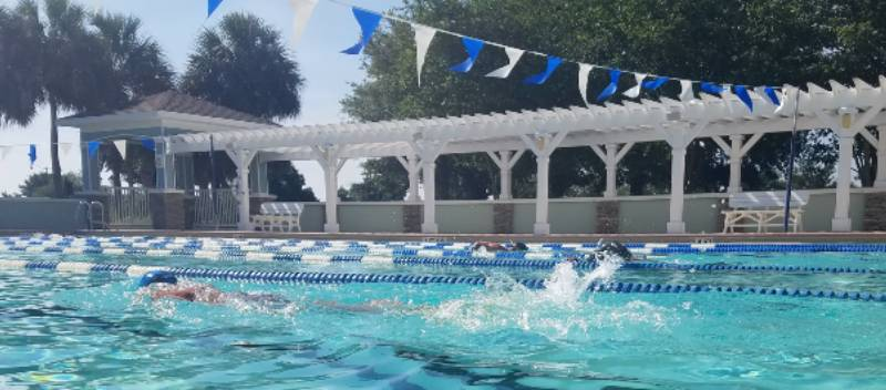 The Villages Triathlon Club holds groups swims two mornings per week
